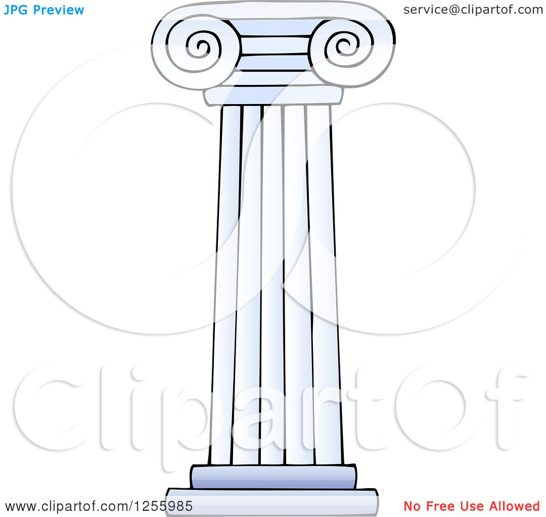 Clipart of a Greek Pillar Column - Royalty Free Vector ...