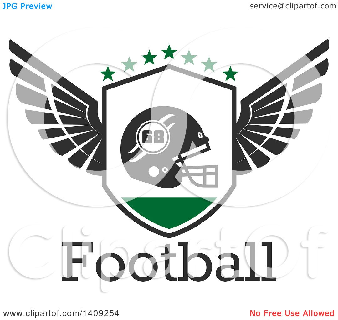 Clipart of a green and dark gray american football helmet design clipart of a green and dark gray american football helmet design royalty free vector illustration by vector tradition sm biocorpaavc