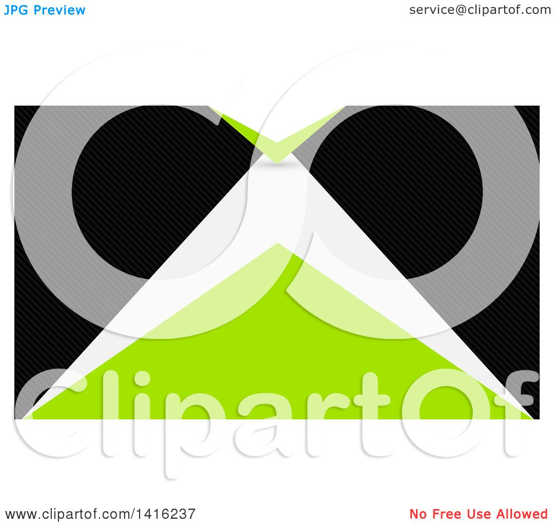 Clipart of a Green Black and White Business Card Design or Website ...