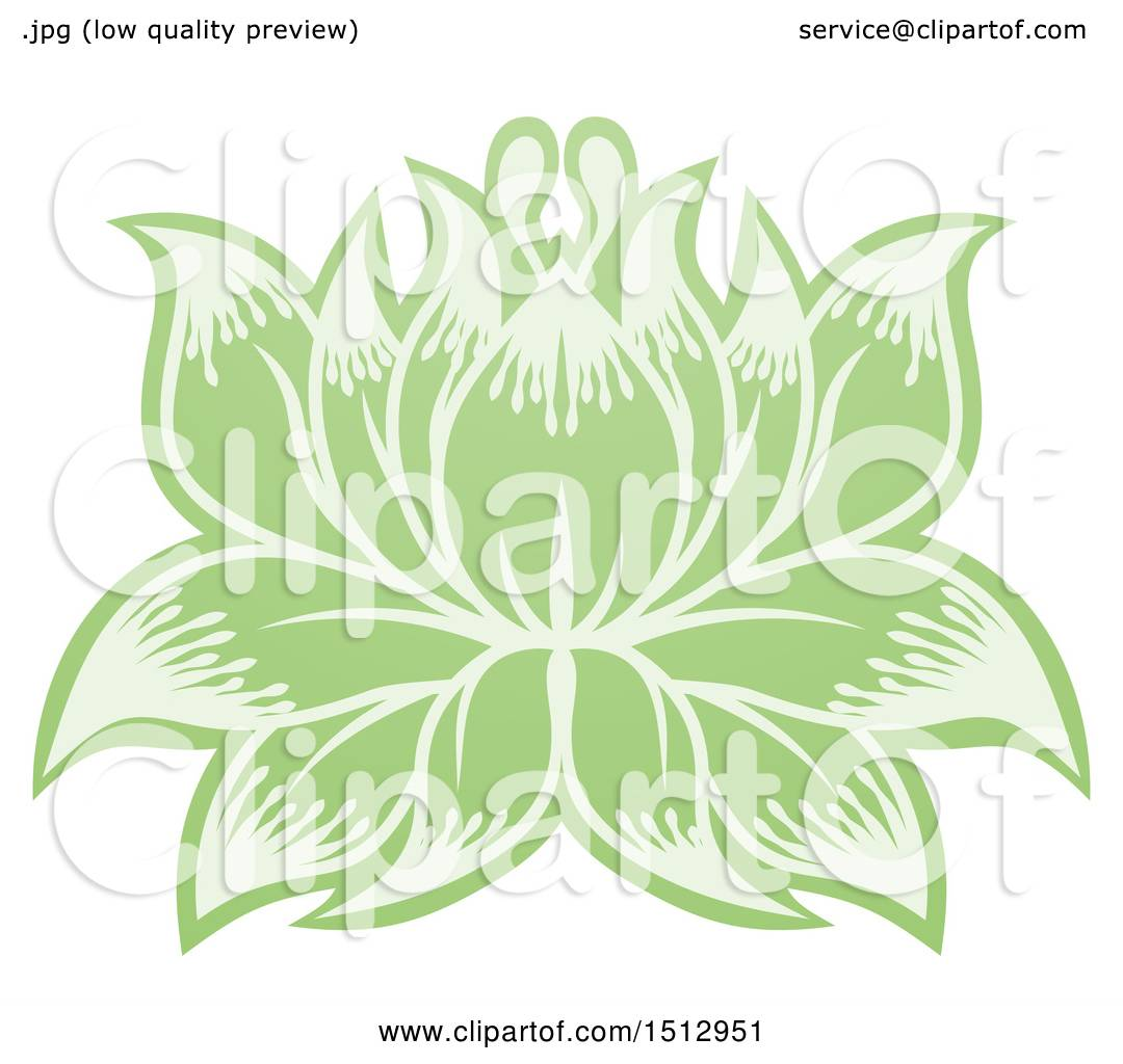 Clipart of a green blooming lotus flower royalty free vector clipart of a green blooming lotus flower royalty free vector illustration by atstockillustration izmirmasajfo