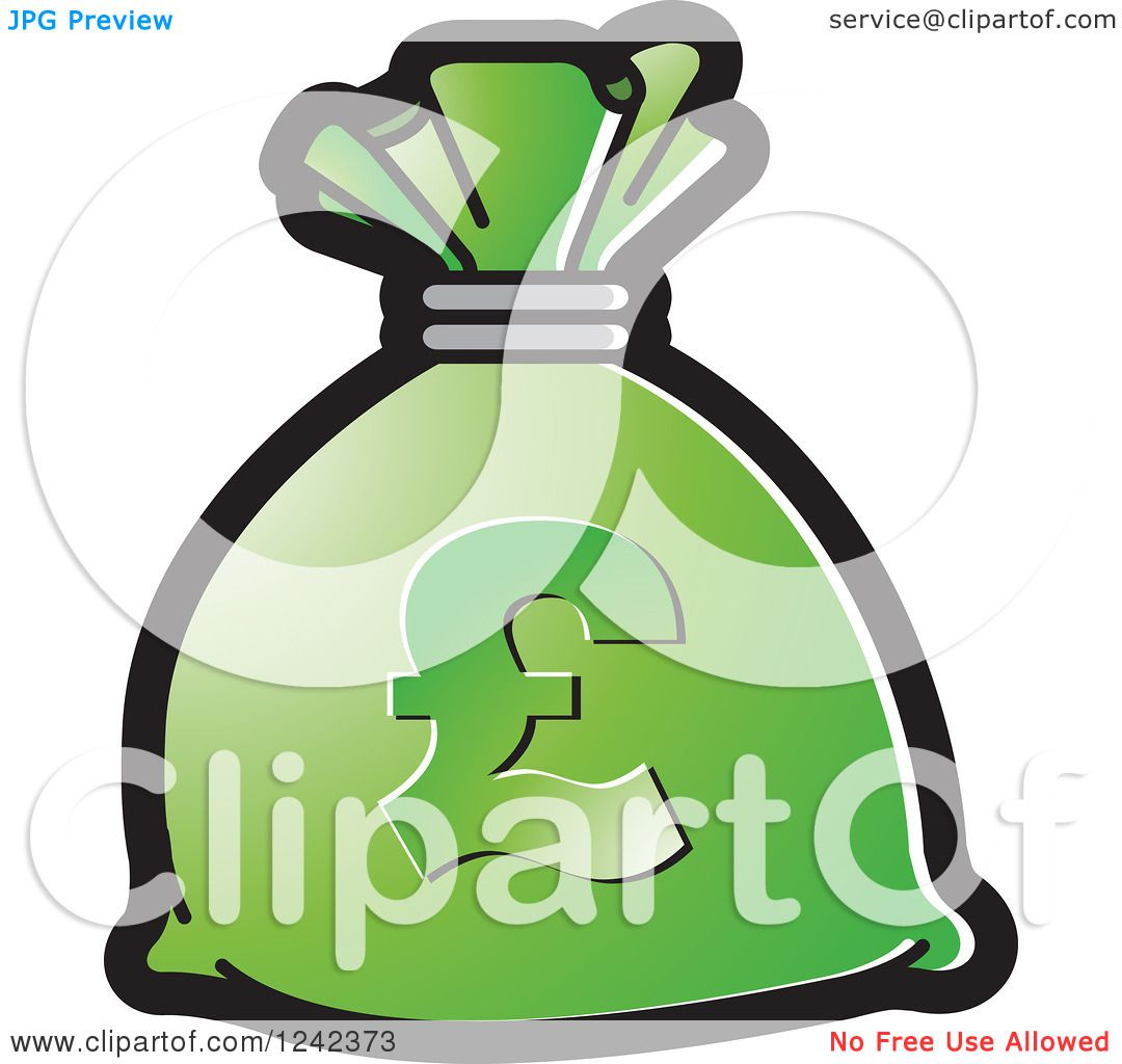 Clipart of a green money bag with a pound currency symbol royalty clipart of a green money bag with a pound currency symbol royalty free vector illustration by lal perera buycottarizona Choice Image