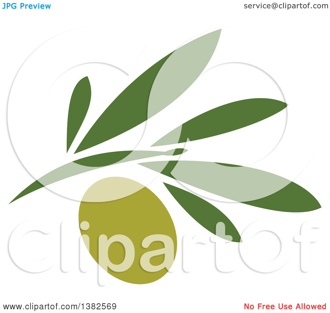 Clipart of a Green Olive Design - Royalty Free Vector Illustration ...