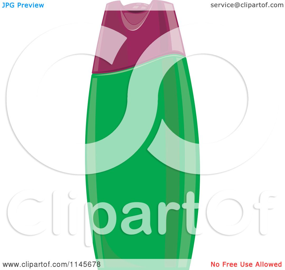 Shampoo And Conditioner Bottles Clip Art Clipart of a green shampoo