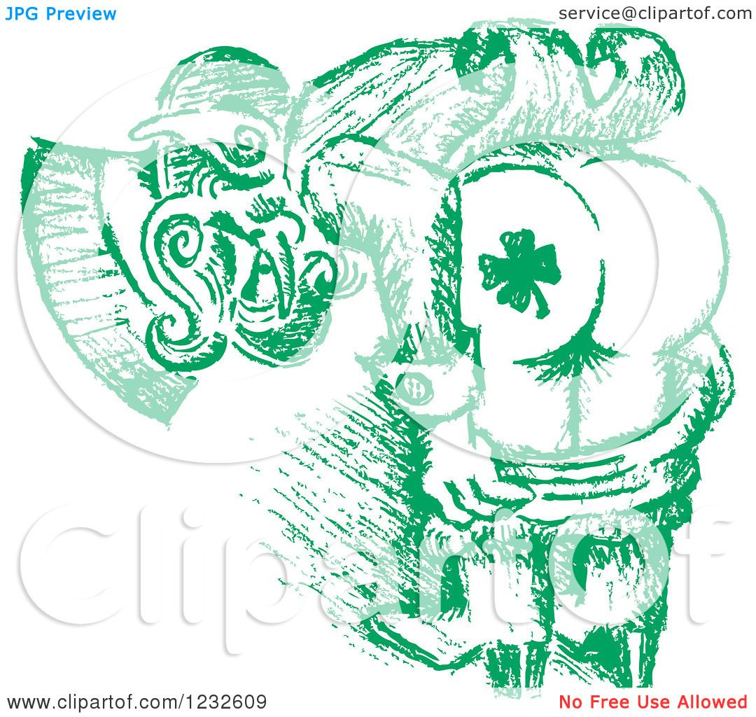 clipart of a green sketched st patricks day leprechaun mooning to show his shamrock tattoo. Black Bedroom Furniture Sets. Home Design Ideas