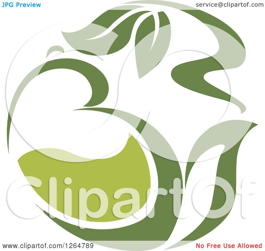 Clipart of a Green Tea Pot - Royalty Free Vector ...