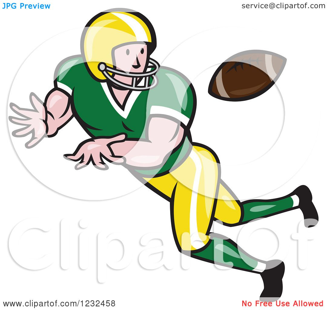 clipart of a gridiron american football player catching royalty rh clipartof com american football clipart american football clipart free
