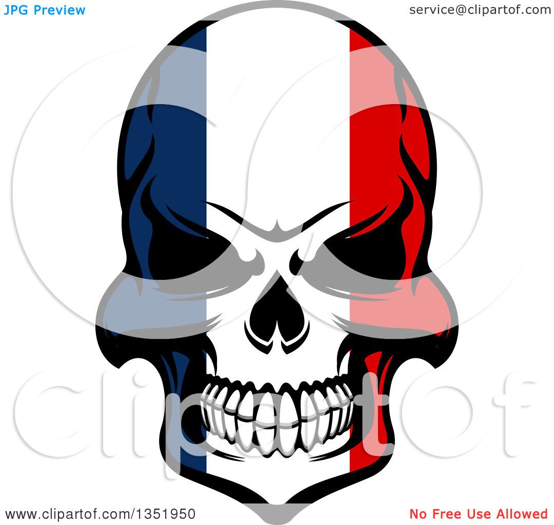 Clipart of a grinning evil skull in french flag colors royalty clipart of a grinning evil skull in french flag colors royalty free vector illustration by vector tradition sm biocorpaavc Gallery