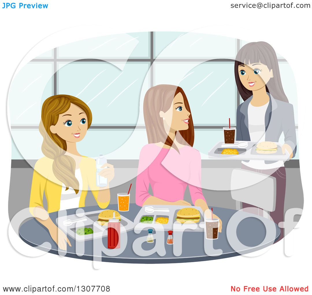 Group Girls Clipart Clipart of a Group of