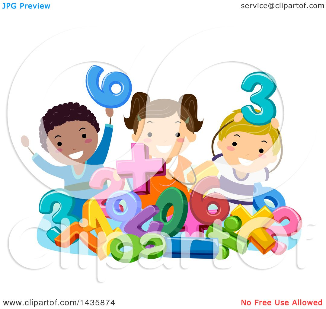 Clipart of a group of school children with numbers and math clipart of a group of school children with numbers and math symbols royalty free vector illustration by bnp design studio buycottarizona Image collections