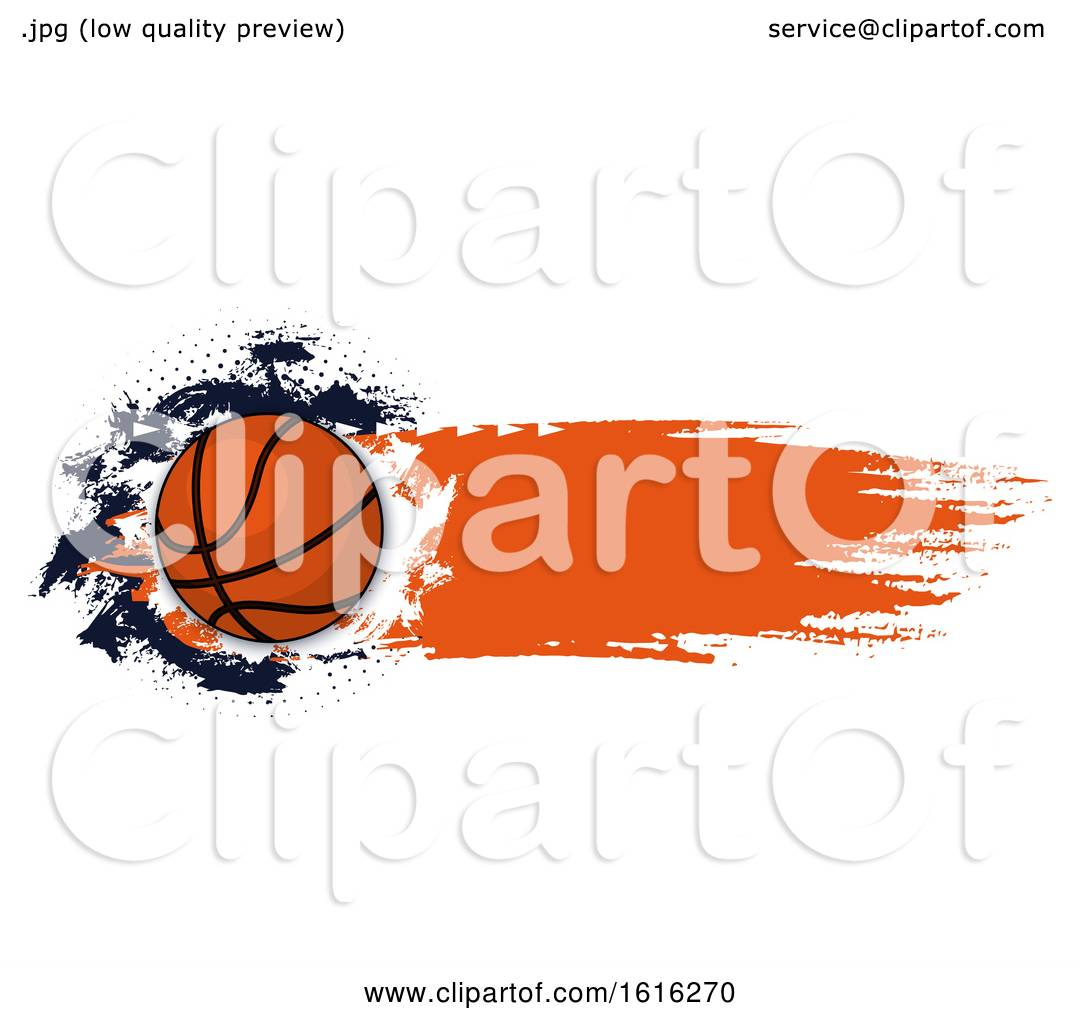 Clipart Of A Grungy Basketball Design Royalty Free Vector