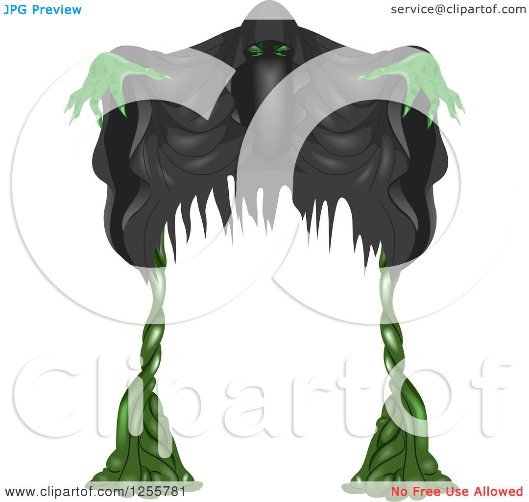 Clipart of a Halloween Party Entrance Arch of a Ghost - Royalty ...