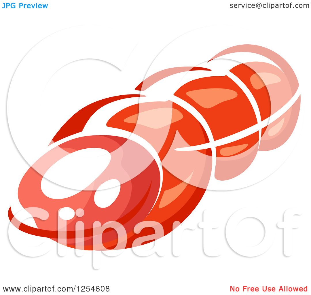 Clipart of a Ham - Royalty Free Vector Illustration by ...