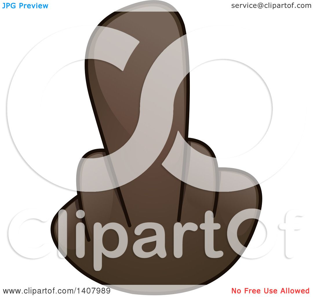 Clipart of a Hand Emoji Holding up a Middle Finger - Royalty Free ...