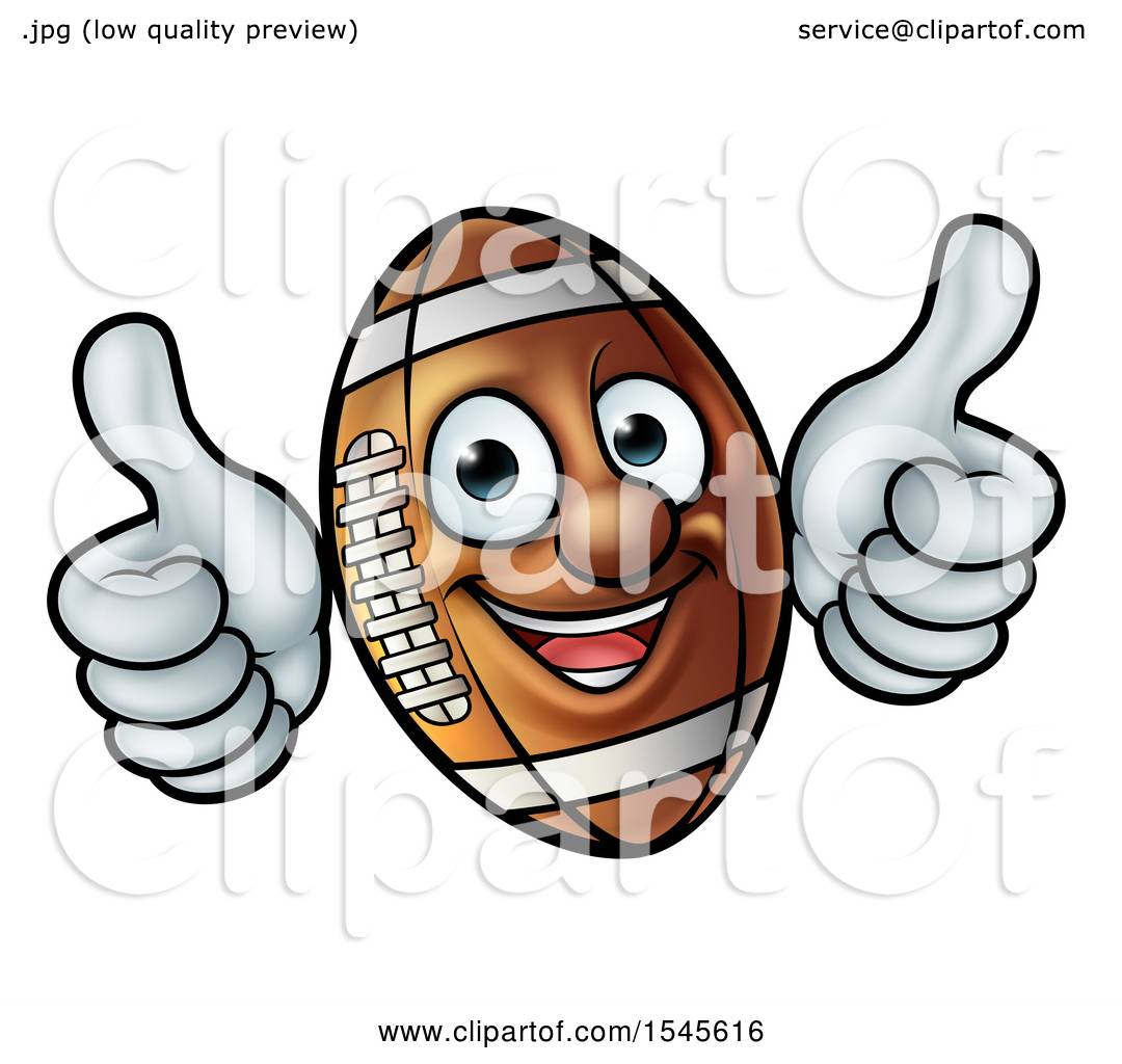 clipart of a happy american football character mascot giving two rh clipartof com two thumbs up clipart free clipart + 2 thumbs up