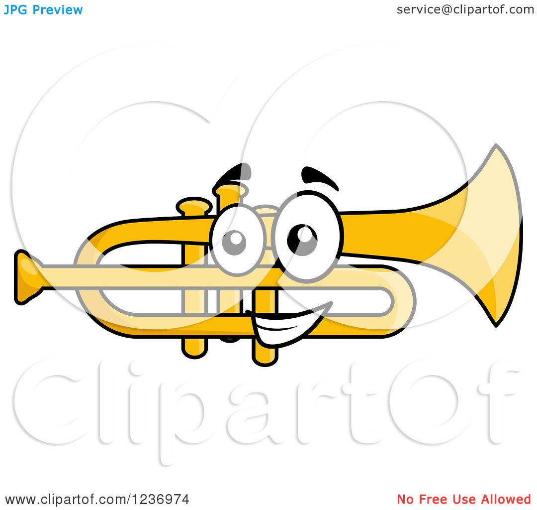 Trumpet Clipart , Trumpet Clipart Black And White , Royal Trumpet ...