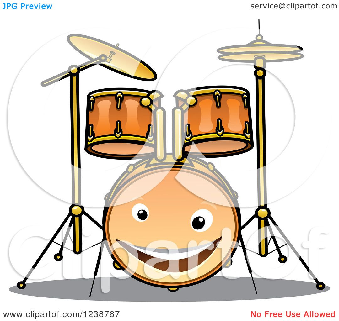 Royalty-Free (RF) Drum Set Clipart, Illustrations, Vector Graphics #1