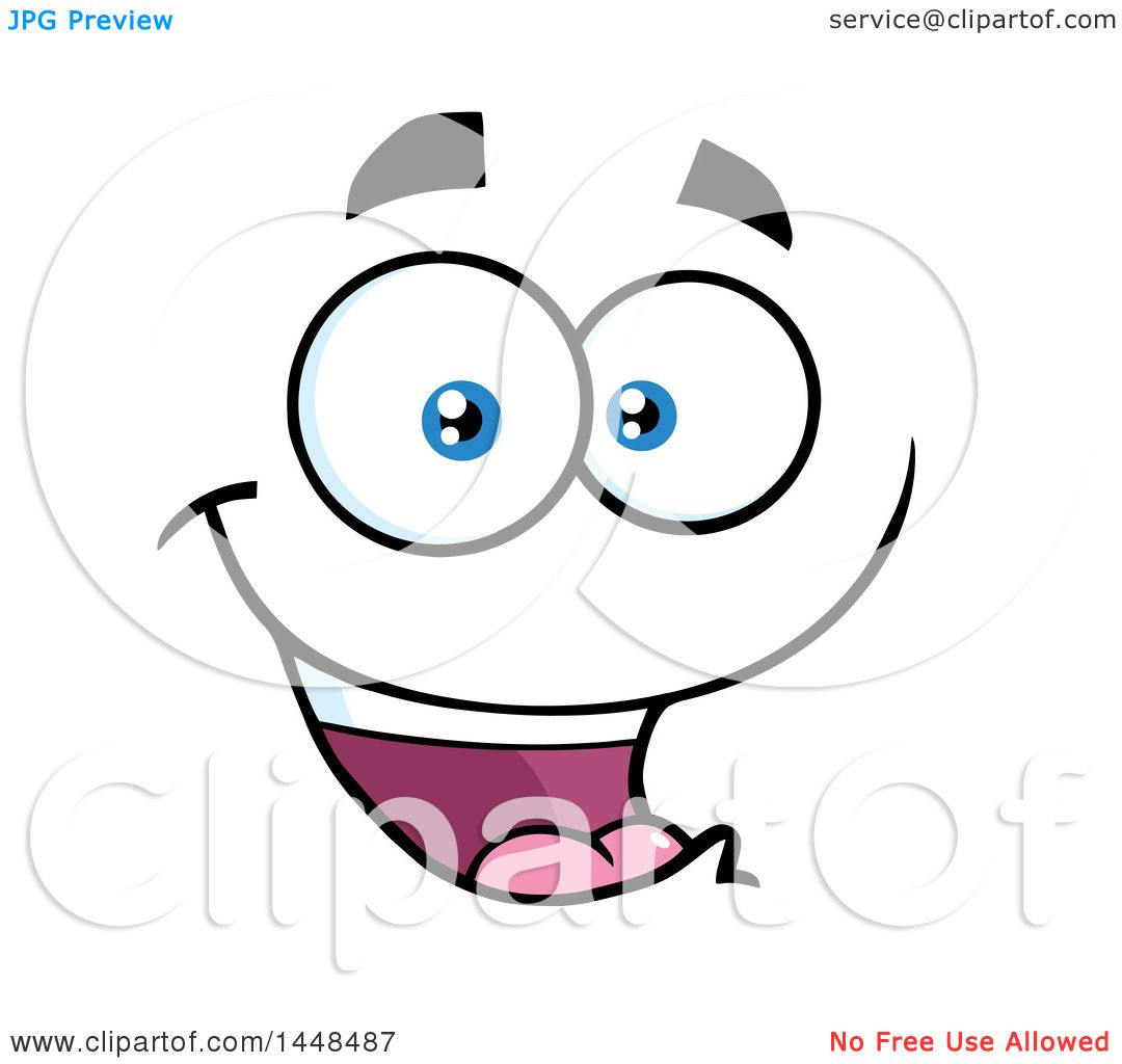 Clipart of a happy face royalty free vector illustration by hit clipart of a happy face royalty free vector illustration by hit toon voltagebd Image collections