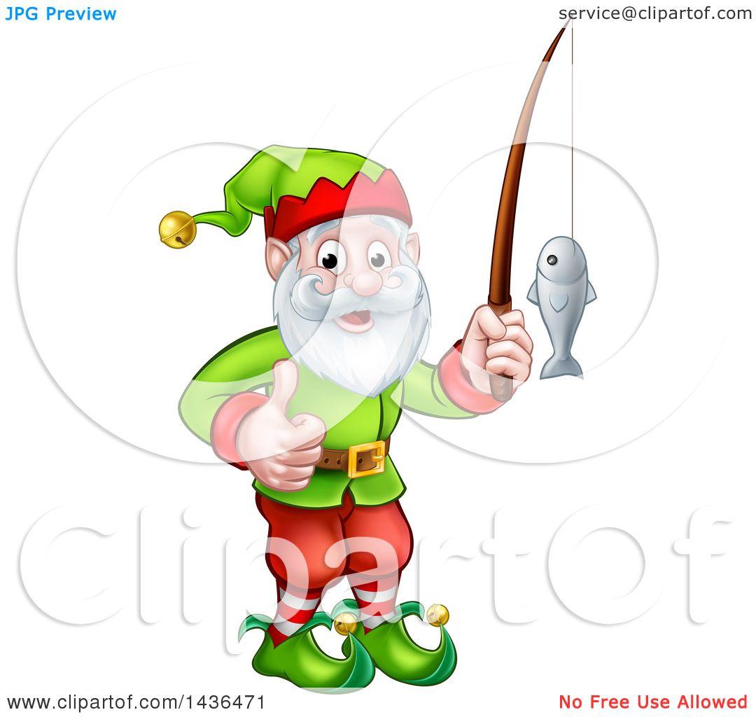 Gnome Clip Art: Clipart Of A Happy Garden Gnome Or Christmas Elf Giving A
