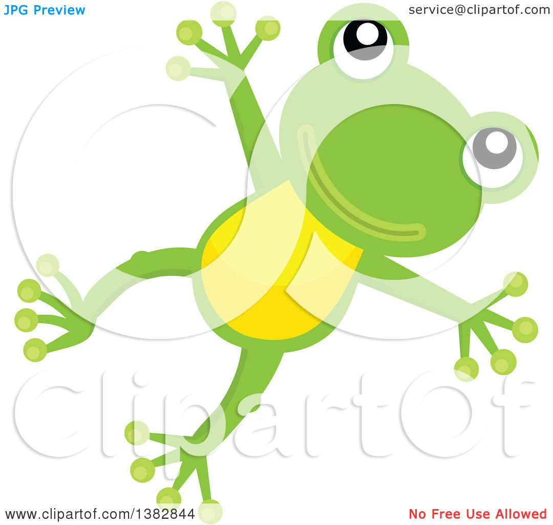 Frog jumping clipart
