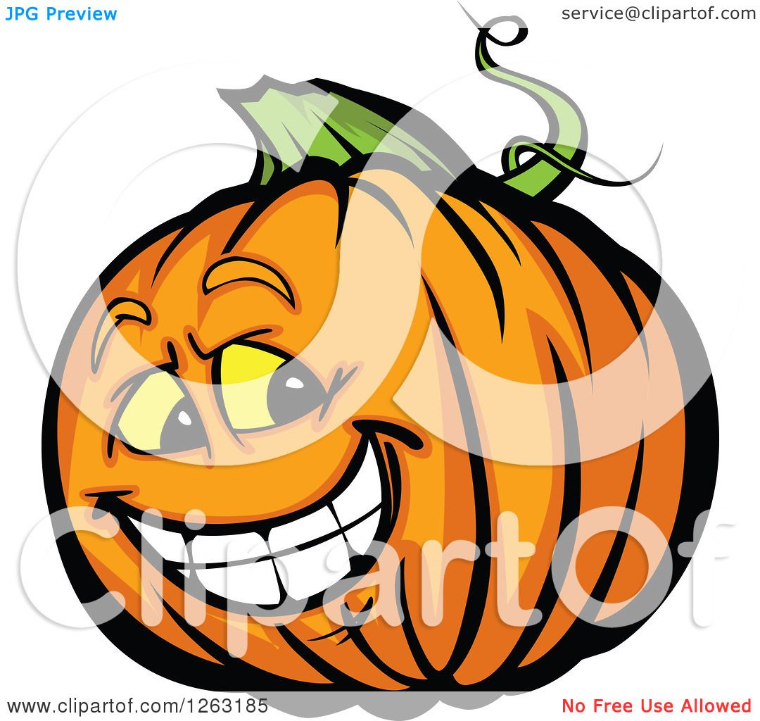 Clipart of a Happy Hal...