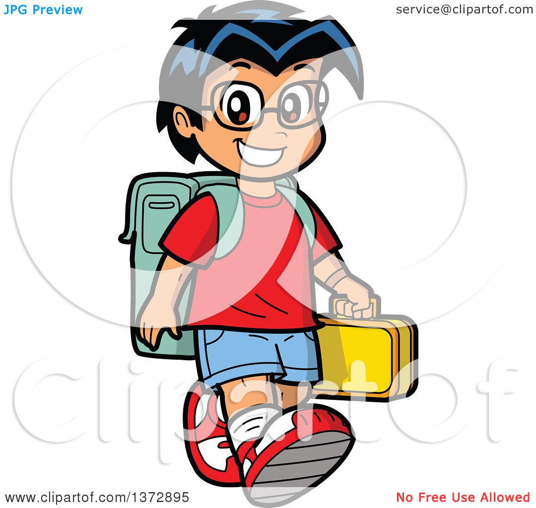 clipart of a happy hispanic school boy walking royalty free vector rh clipartof com hispanic clipart pictures hispanic girl clipart