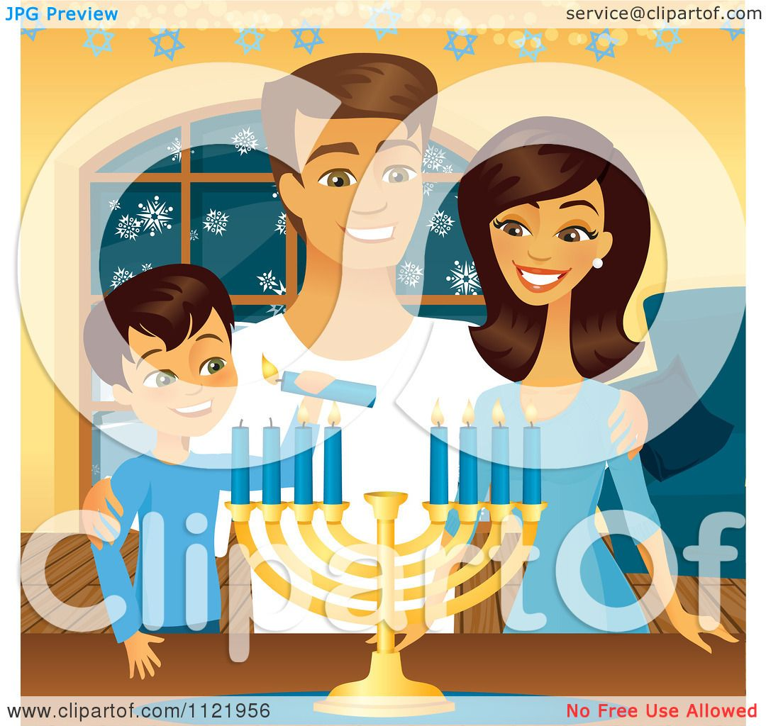 Clipart of Jewish Holiday Hanukkah Items - Royalty Free Vector ...