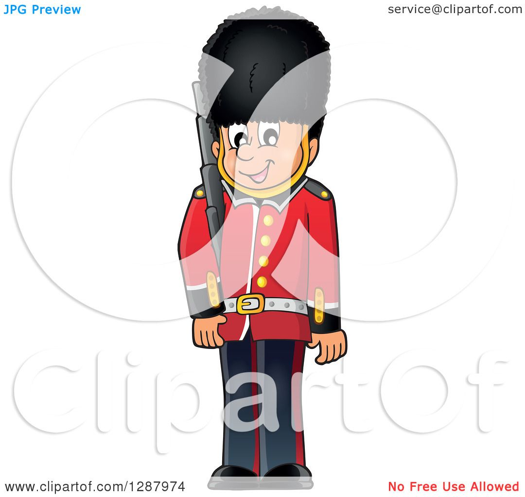 Clipart Of A Happy London Beefeater Guard