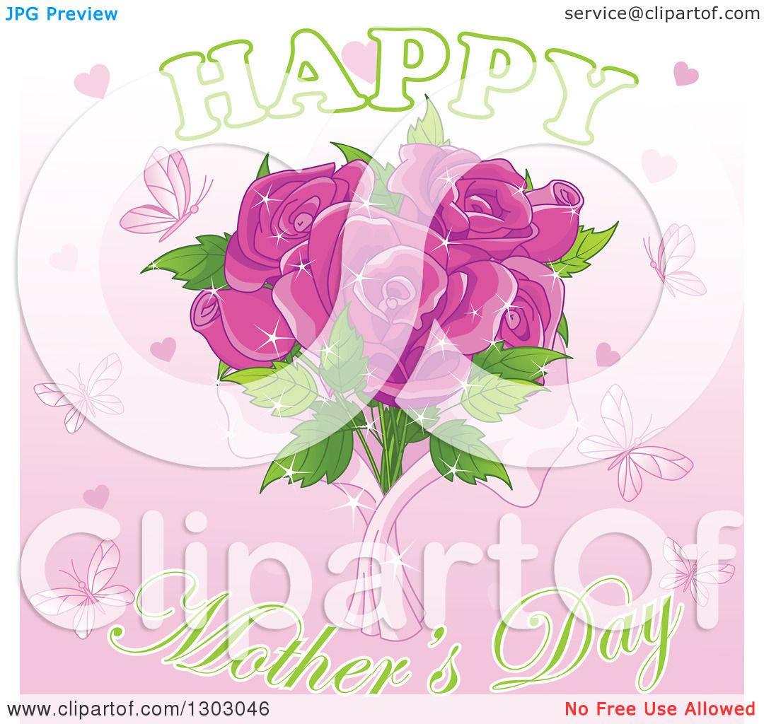 Clipart of a Happy Mothers Day