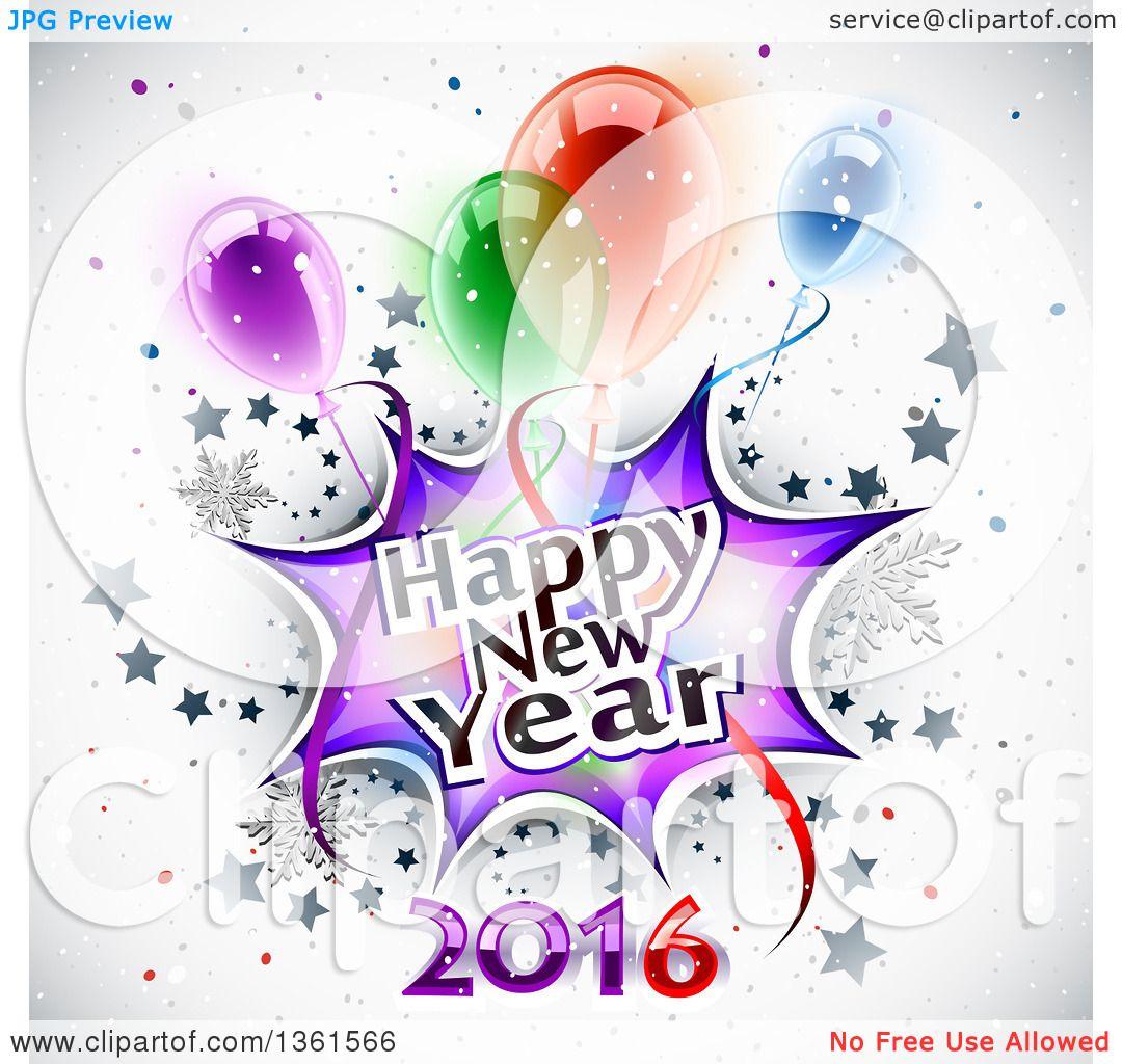 new years balloons clip art - photo #20