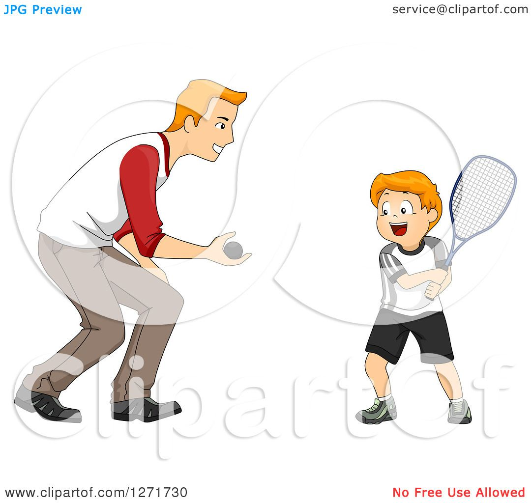 how to teach a baby to play tennis