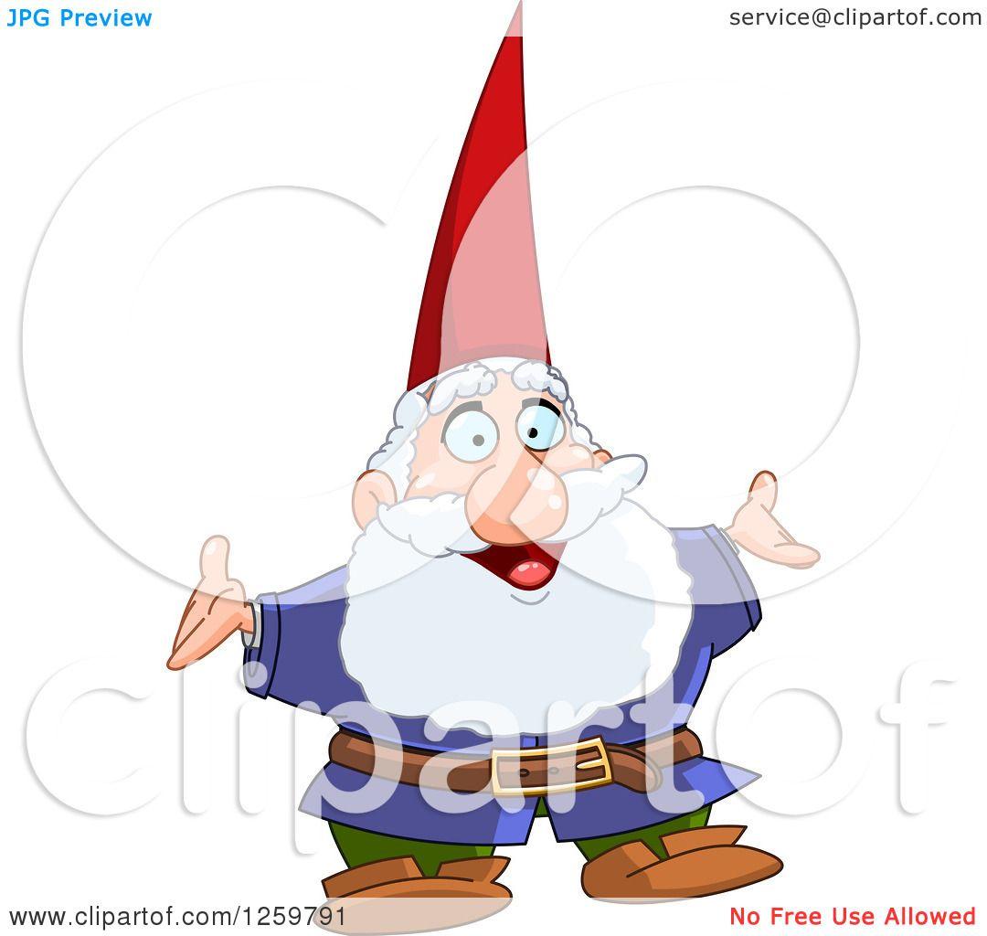 Gnome Clip Art: Clipart Of A Happy Senior Male Gnome