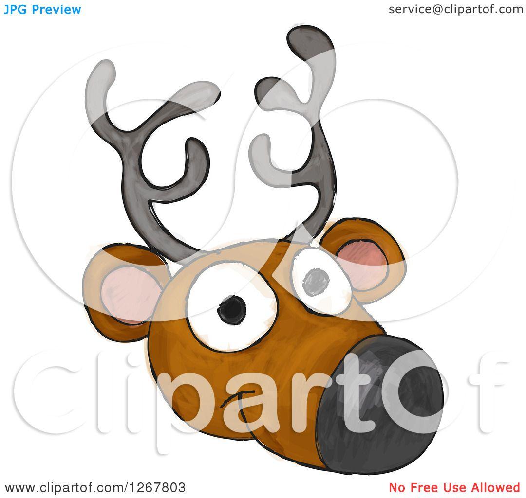 Reindeer face clip art