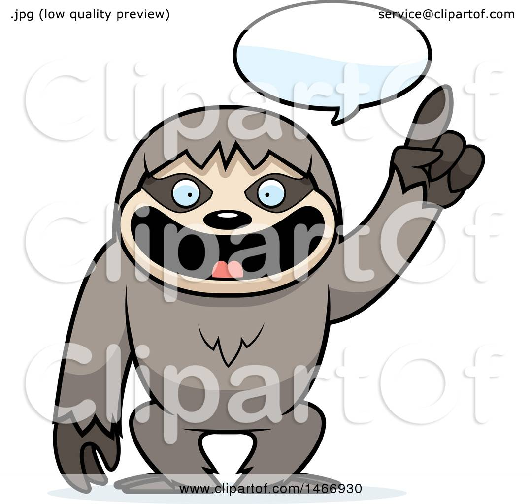 clipart of a happy talking sloth royalty free vector illustration rh clipartof com sloth clipart cute baby sloth clipart