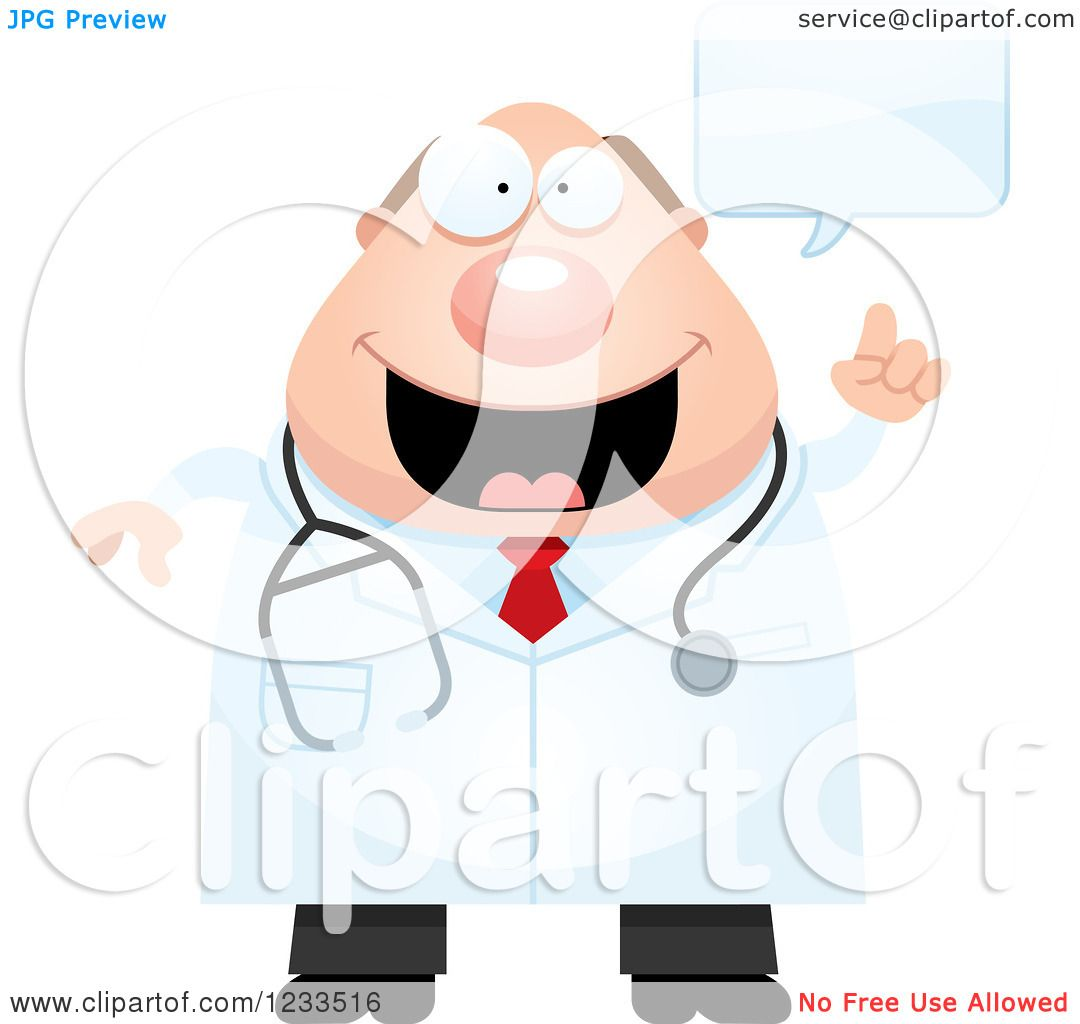 Clipart of a Happy Talking Surgeon Doctor or Veterinarian ...