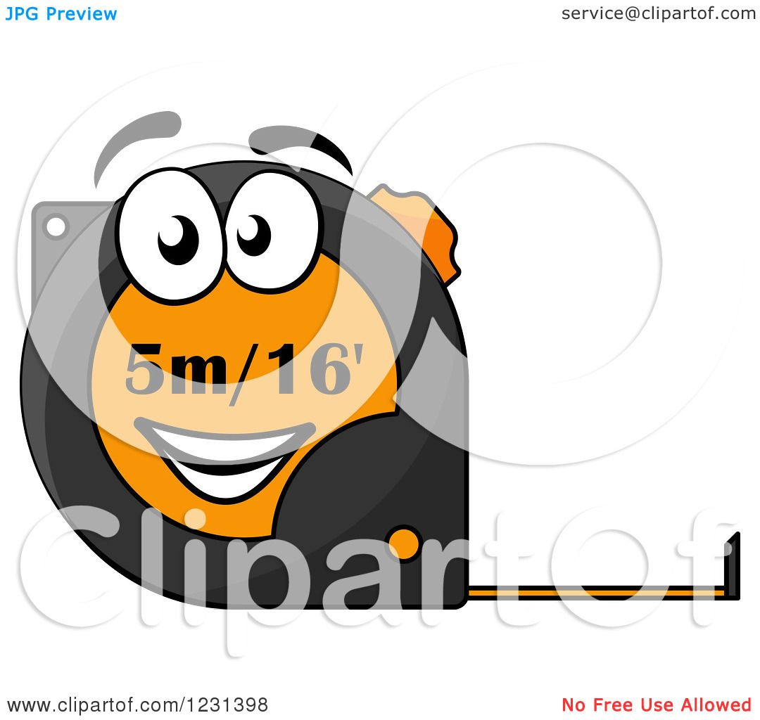 Vector of tape measure border a page border created from a rag tape - Clipart Of A Happy Tape Measure Character Royalty Free Vector Illustration By Vector Tradition Sm