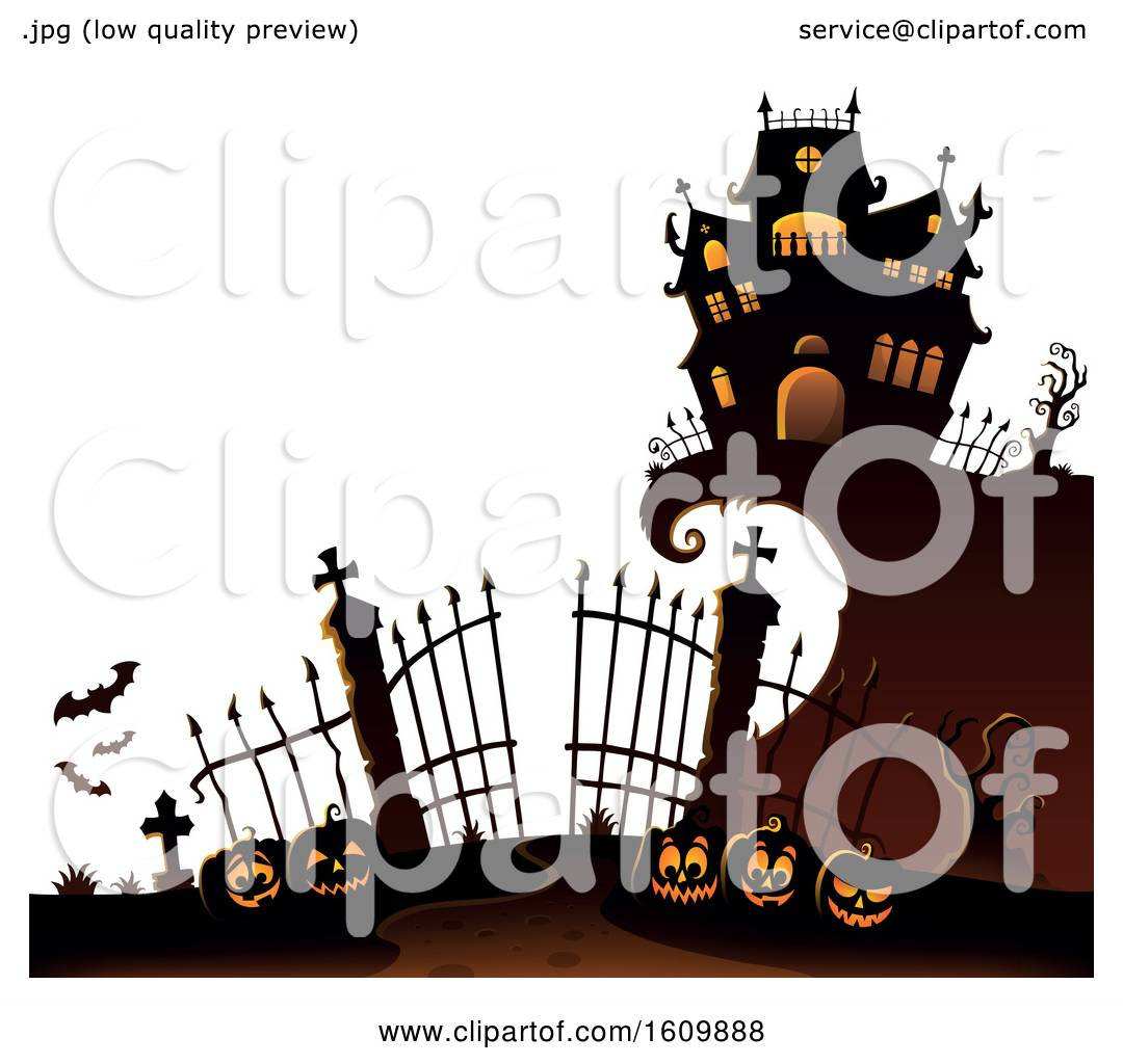 Halloween Clipart Gate - Haunted House Gate Png, Transparent Png - kindpng