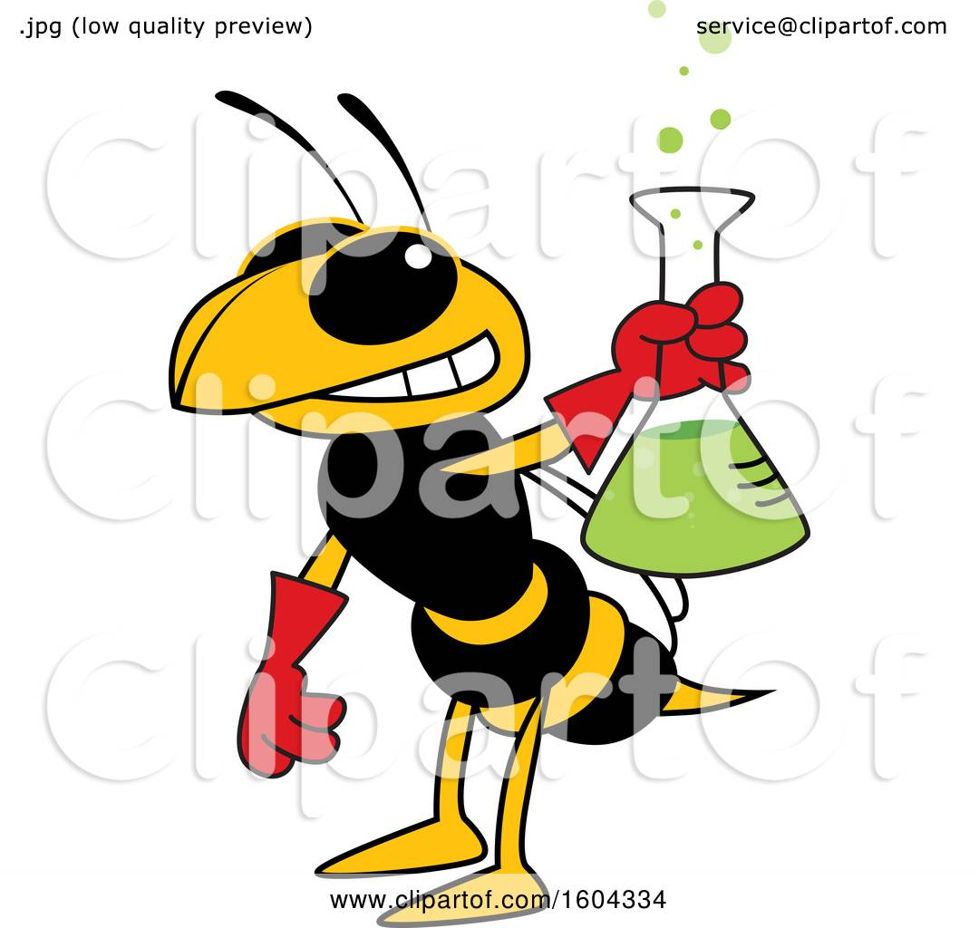 Clipart of a Hornet or Yellow Jacket School Mascot ...