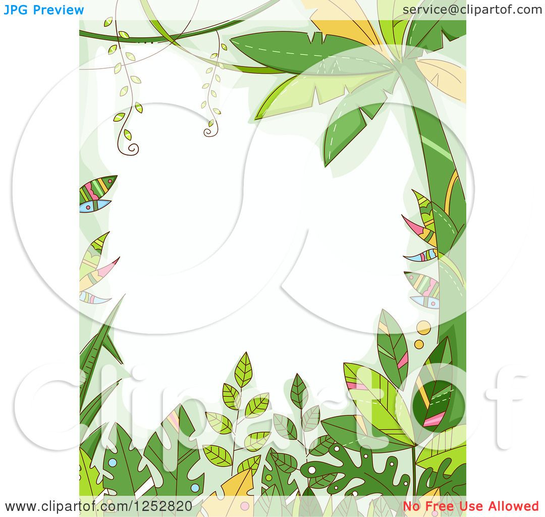 Clipart Of A Jungle Border Forest Plants Royalty Free