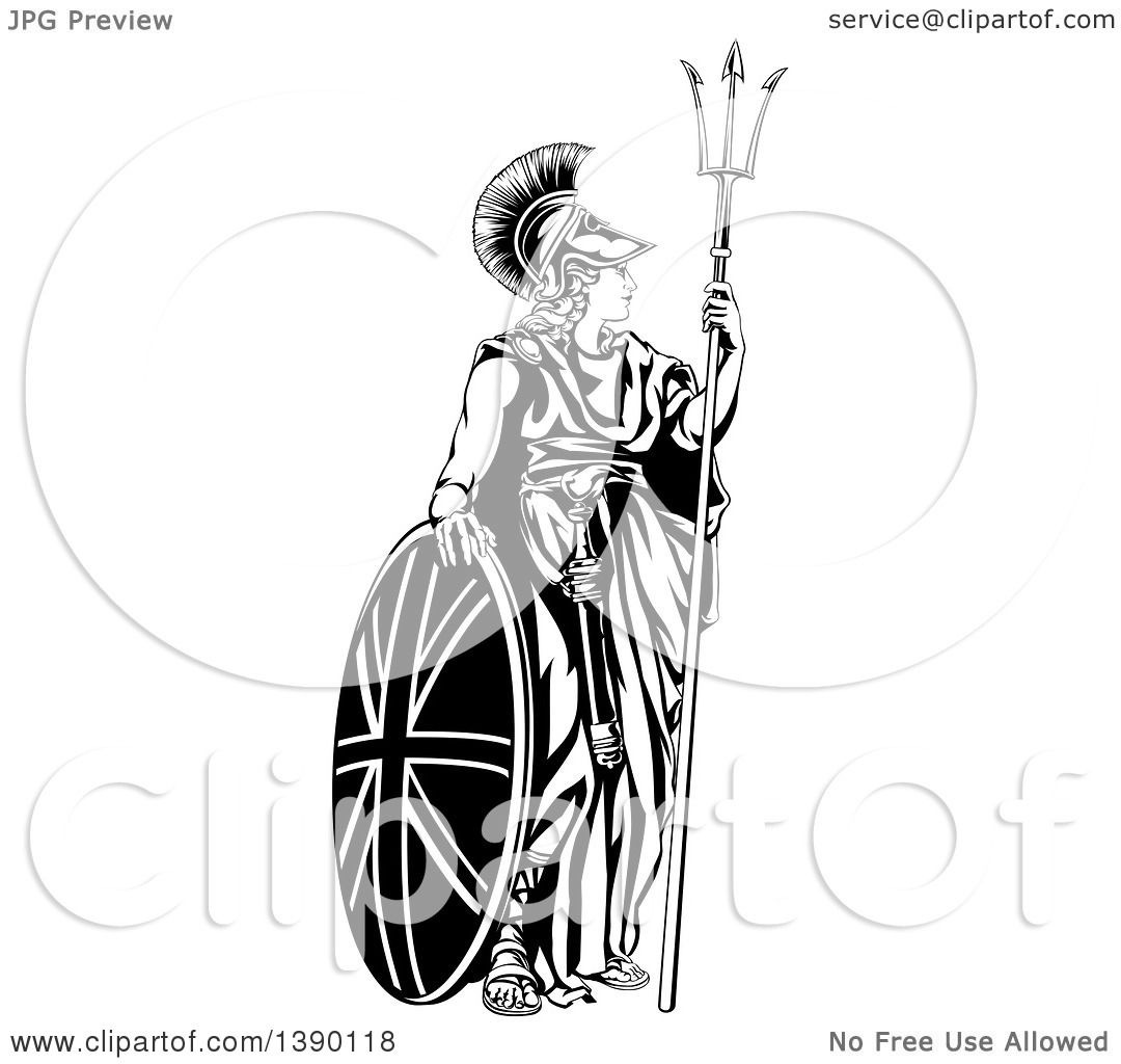 clipart of a lady  britannia  personification of britain