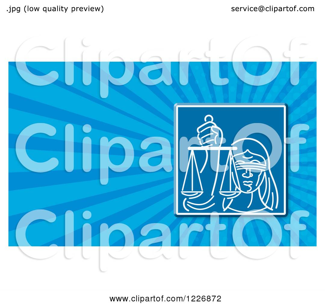 Clipart of a Lady Justice Background or Business Card Design ...