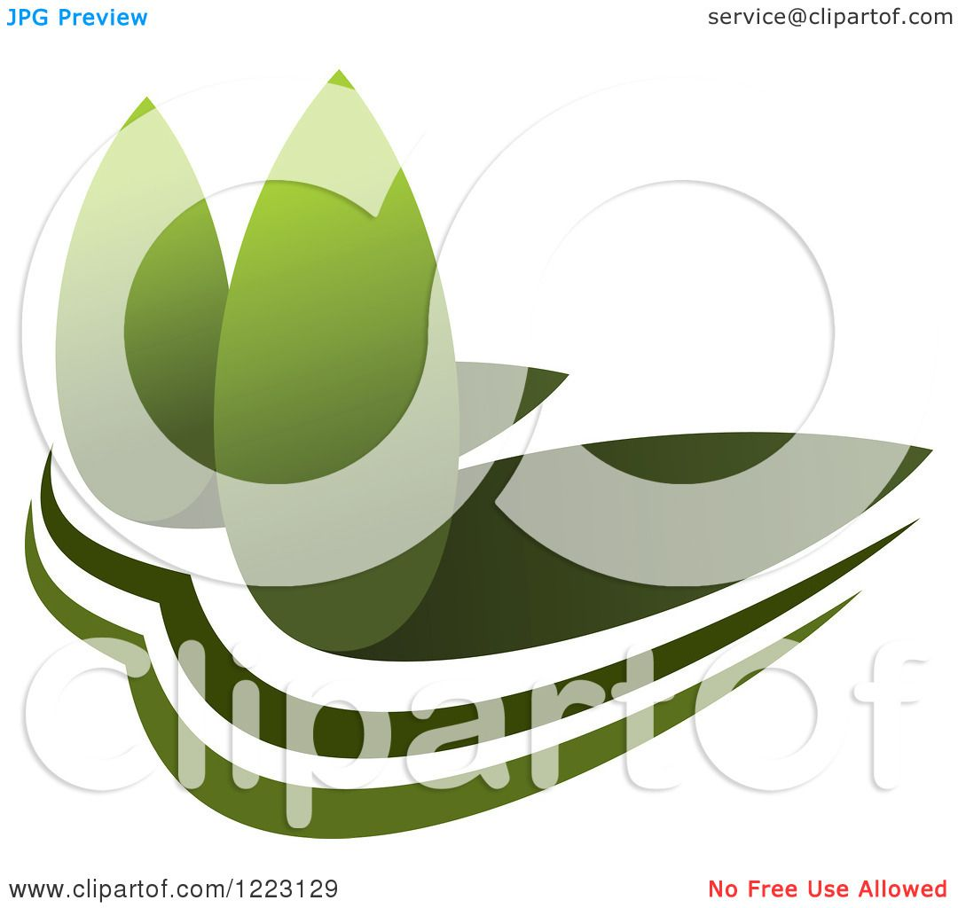 Landscape Illustration Vector Free: Clipart Of A Landscape With Green Trees 10