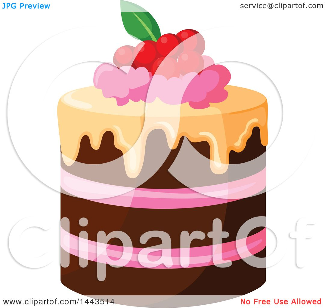 Free Clip Art Layer Cake : Clipart of a Layer Cake with Berries - Royalty Free Vector ...