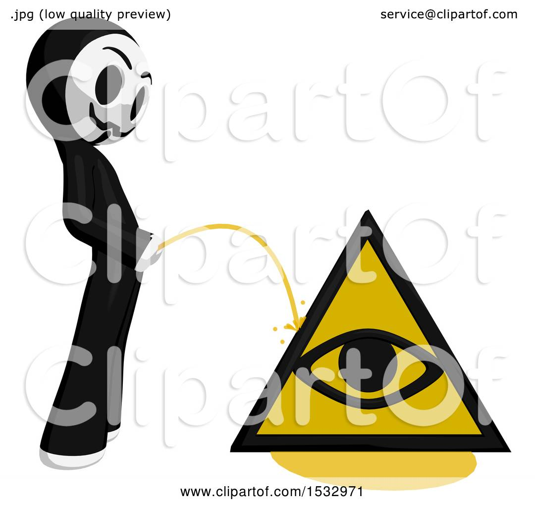Clipart of a little anarchist pissing on an illuminati symbol clipart of a little anarchist pissing on an illuminati symbol royalty free illustration by leo blanchette buycottarizona