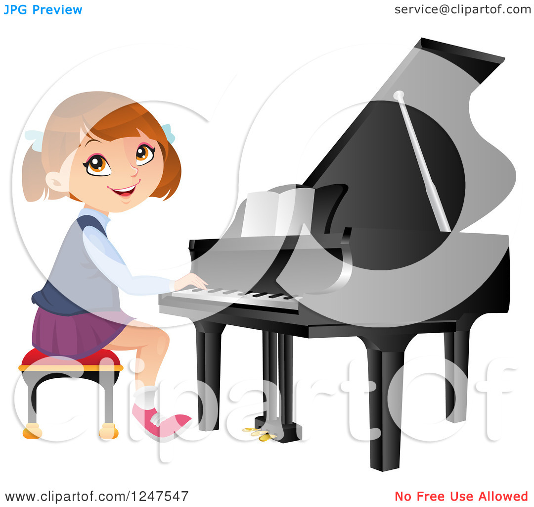 clipart girl playing piano - photo #26