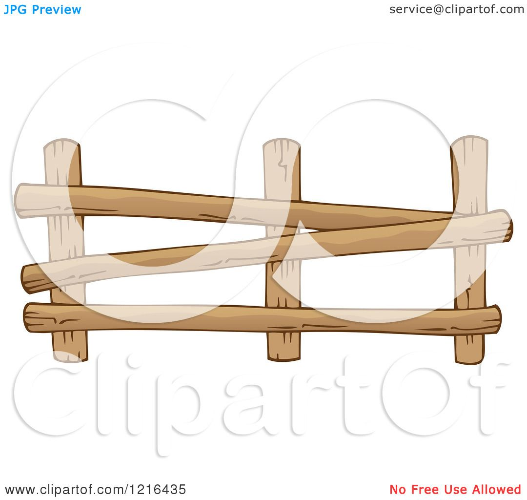 Farm Fence Clipart clipart of a log farm fence - royalty free vector illustration