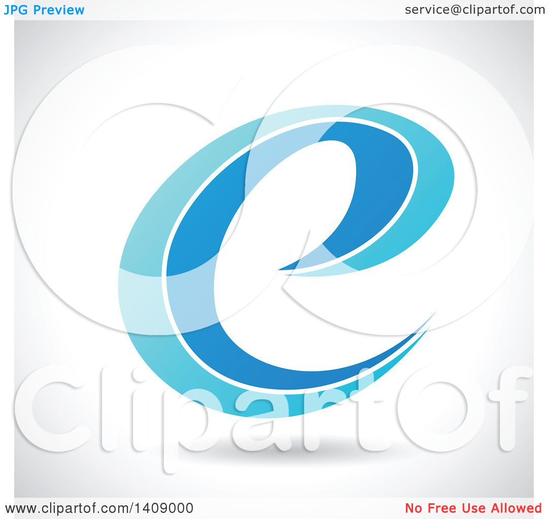 clipart of a lowercase curvy letter e abstract design royalty
