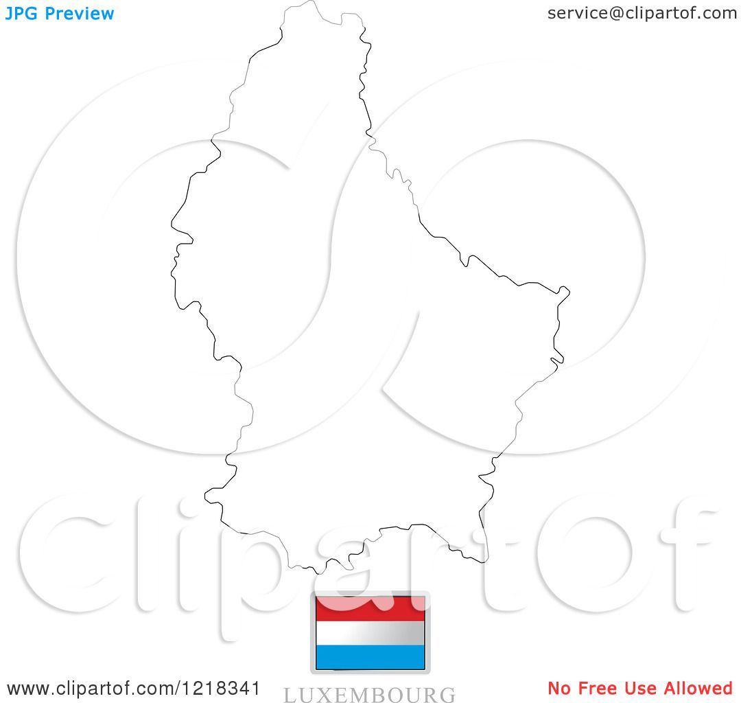 Luxembourg Map Outline Images - Luxembourg map vector