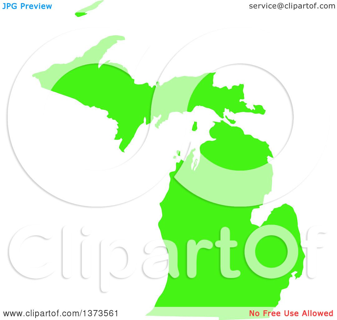 Clipart Of A Lyme Disease Awareness Lime Green Colored Silhouetted