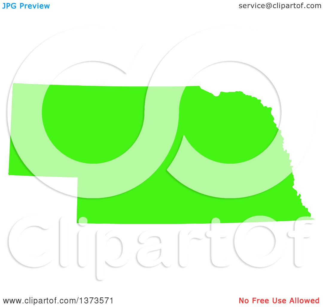 clipart of a lyme disease awareness lime green colored silhouetted map of the state of nebraska united states royalty free vector ilration by jamers