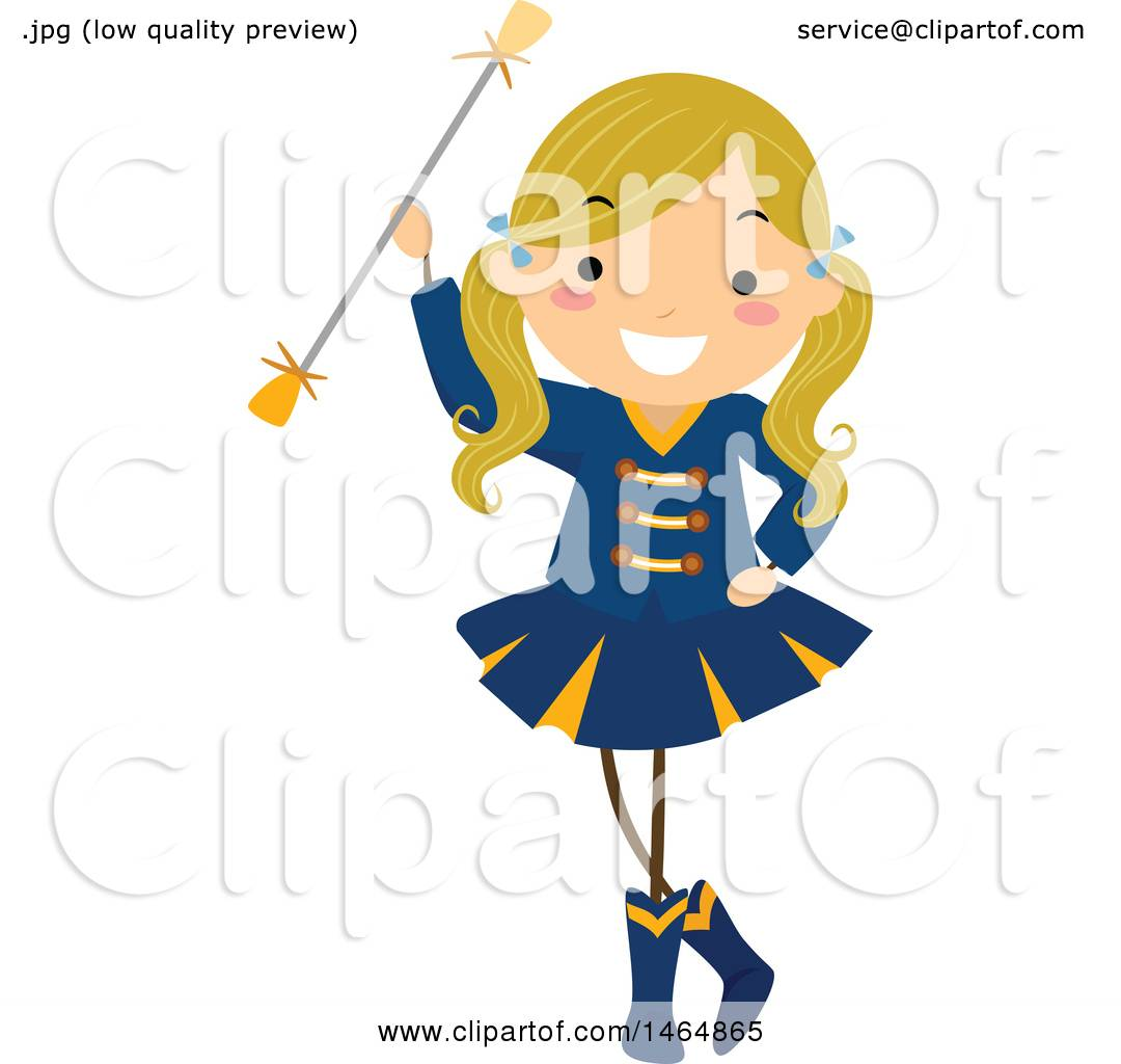 clipart of a majorette dancer girl with a baton royalty free rh clipartof com majorette boots clipart